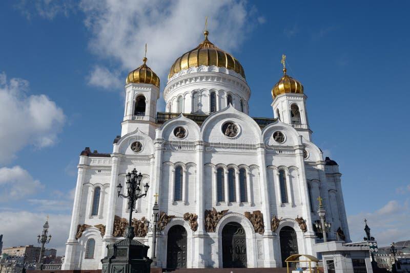 De kathedraal van Christus de Verlosser stock afbeeldingen