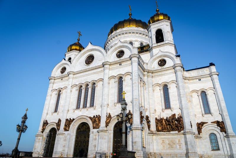 De kathedraal van Christus de Verlosser in Moskou, Rusland stock foto's