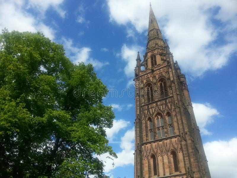 De kathedraal van Coventry stock fotografie