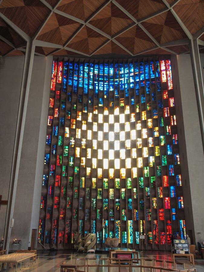 De Kathedraal van Coventry in Coventry stock fotografie