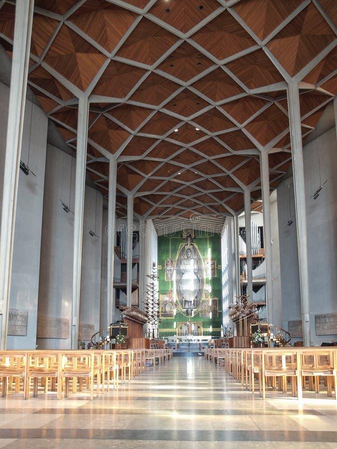 De Kathedraal van Coventry in Coventry stock afbeelding