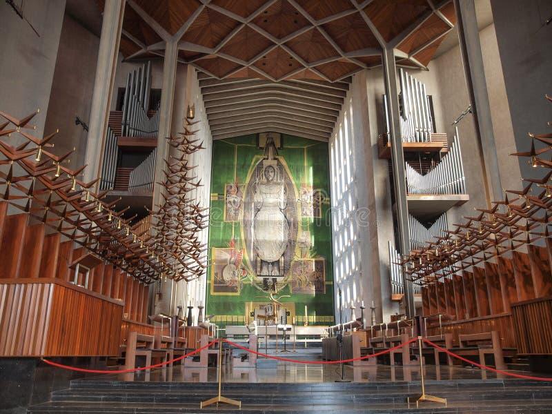 De Kathedraal van Coventry in Coventry royalty-vrije stock afbeelding