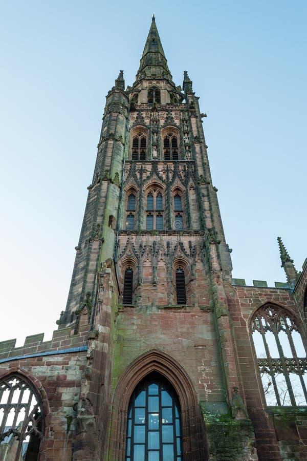 De Kathedraal van Coventry - St Michael Tower B royalty-vrije stock fotografie