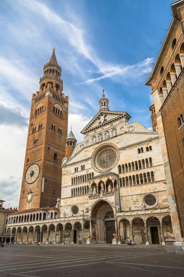 De Kathedraal van Cremona van de Veronderstelling van Onze Dame royalty-vrije stock fotografie