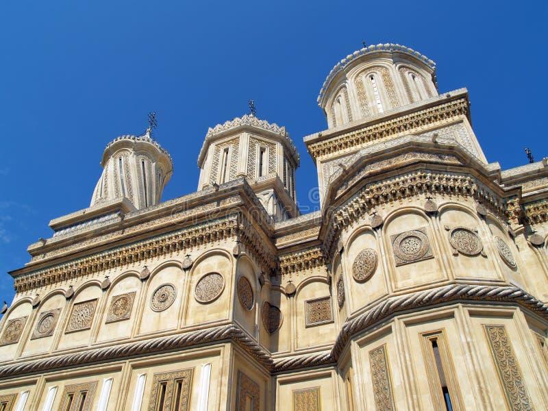 De kathedraal van Curtea de Arges, Roemenië, Manole builder legende - onderaanzicht royalty-vrije stock afbeeldingen