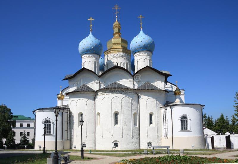 De Kathedraal van de aankondiging in Kazan het Kremlin royalty-vrije stock foto's