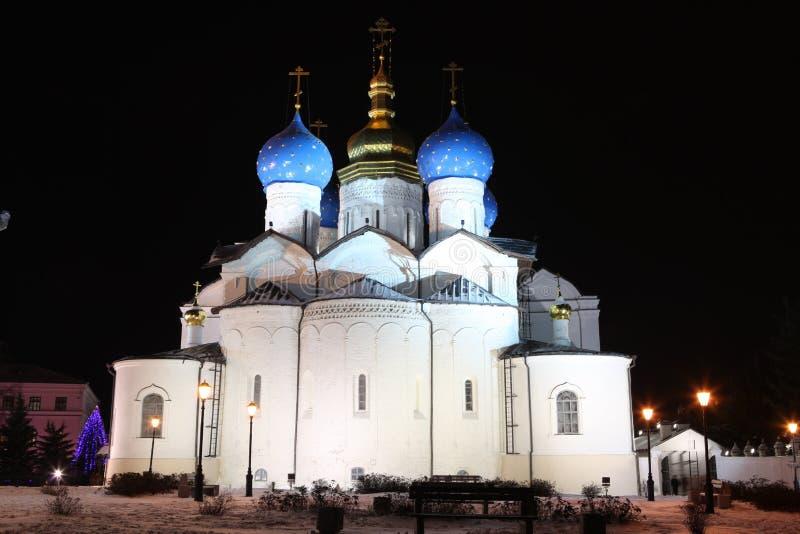 De Kathedraal van de Aankondiging in Kazan het Kremlin - een outstand royalty-vrije stock afbeeldingen