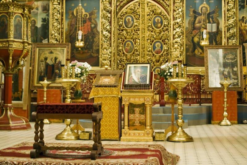De Kathedraal van de drievuldigheid in Pskov het Kremlin stock foto