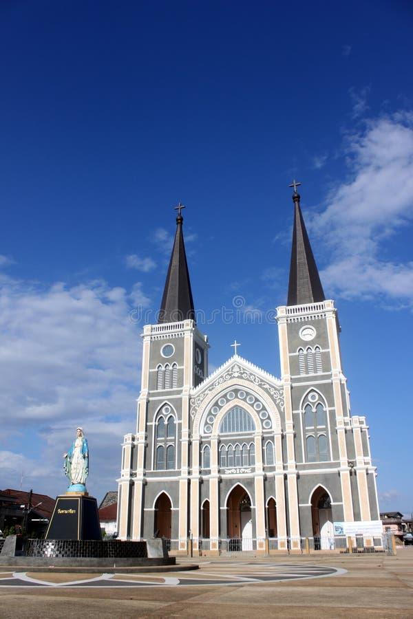 De kathedraal van de Immculate Conceptie Chanthab royalty-vrije stock foto