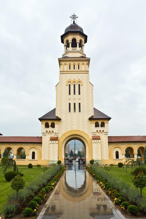 De Kathedraal van de kroning in Alba Iulia stock foto