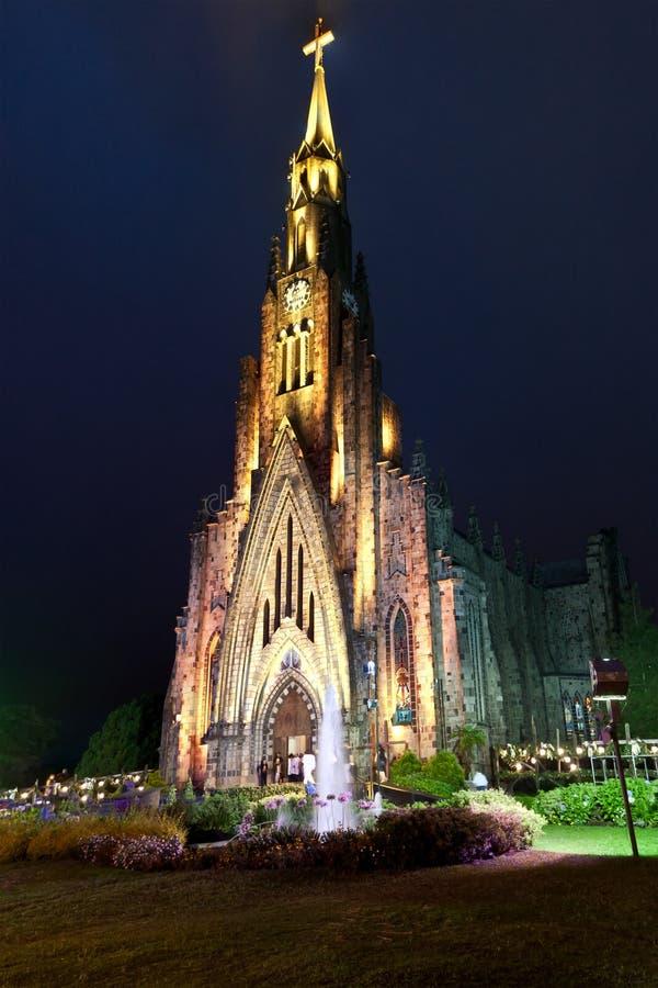 De Kathedraal van de steen van Canela Brazilië royalty-vrije stock foto