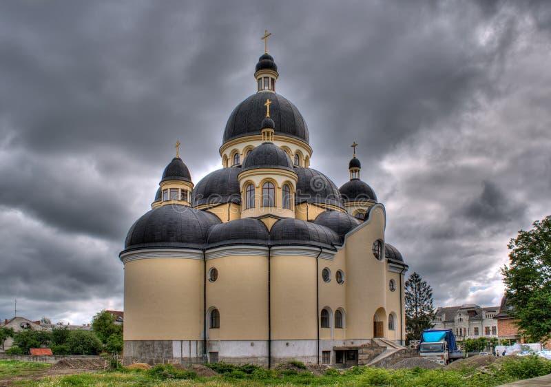 De kathedraal van de Transfiguratie van Jesus-Christus royalty-vrije stock foto's