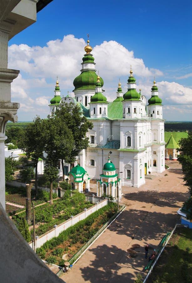 De Kathedraal van de veronderstelling in Chernigov, de Oekraïne stock foto