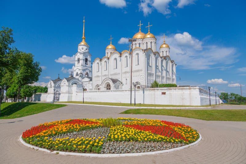 De kathedraal van de veronderstelling in Vladimir stock fotografie