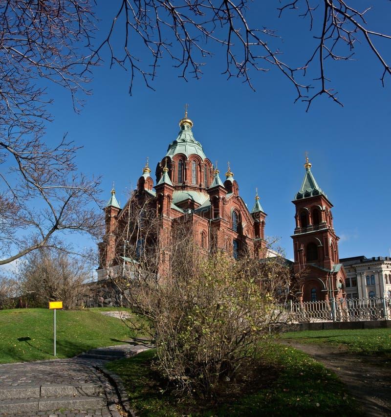 De kathedraal van Dormition in Helsinki royalty-vrije stock foto