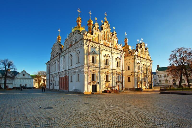 De Kathedraal van Dormition. Lavra. Kiev. De Oekraïne. stock foto's