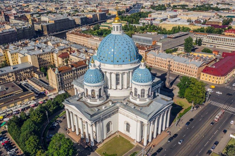 De Kathedraal van de drievuldigheid in St Petersburg royalty-vrije stock foto's