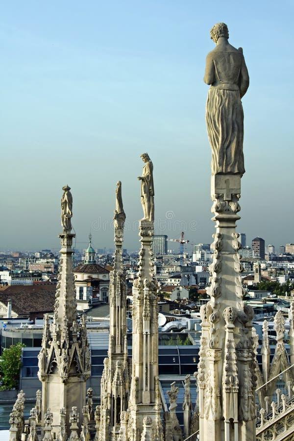 De Kathedraal van Duomo in Milaan stock foto