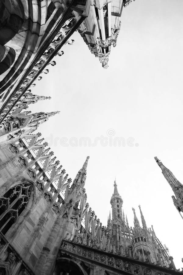 De kathedraal van Duomo op Milaan, Italië royalty-vrije stock afbeeldingen