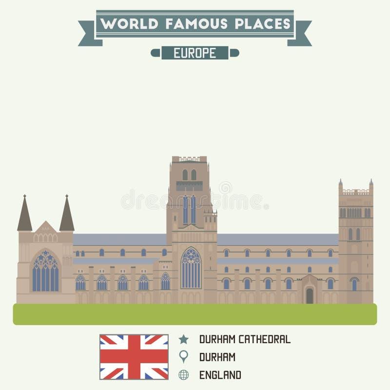 De Kathedraal van Durham stock illustratie