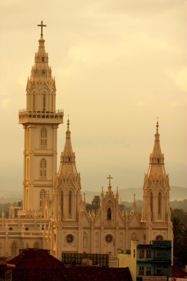 De Kathedraal van Ernakulam royalty-vrije stock foto's