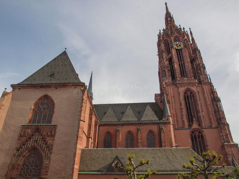 De Kathedraal van Frankfurt stock afbeelding