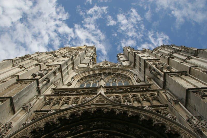 De kathedraal van Gotic in Antwerpen stock afbeeldingen