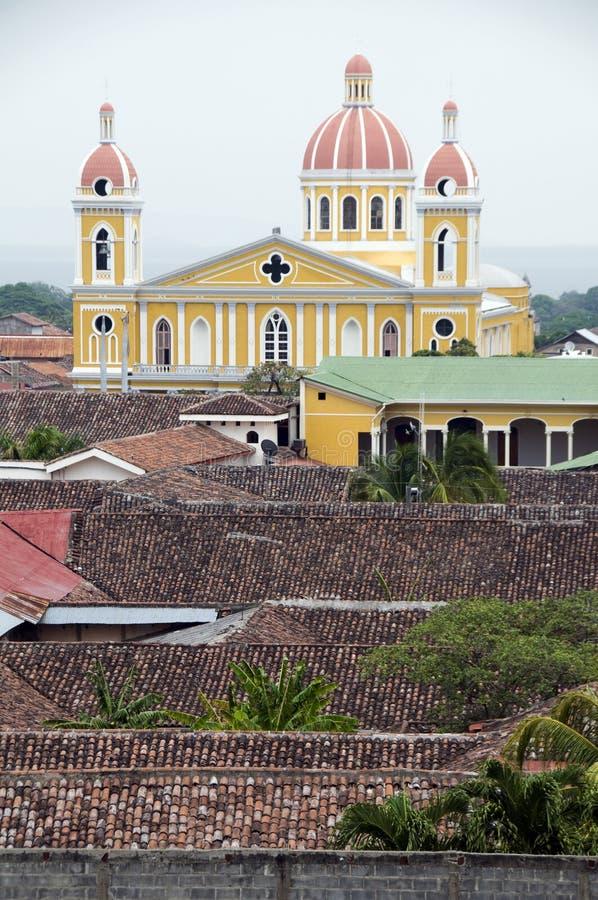 De kathedraal van Granada Nicaragua royalty-vrije stock fotografie