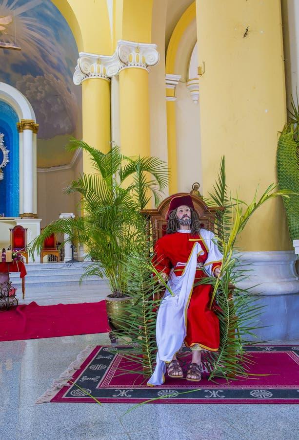 De Kathedraal van Granada in Nicaragua stock fotografie