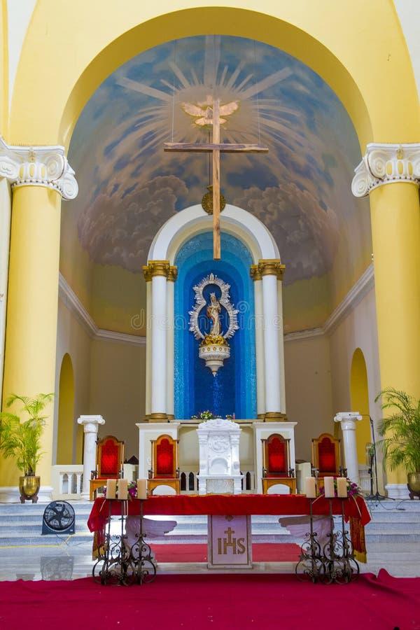 De Kathedraal van Granada in Nicaragua stock afbeeldingen