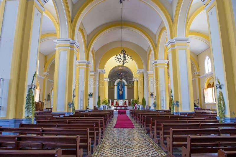 De Kathedraal van Granada in Nicaragua stock foto