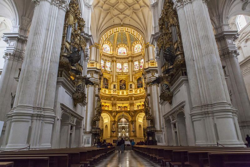 De Kathedraal van Granada, Spanje stock foto