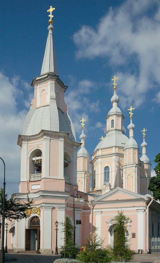 De Kathedraal van heilige Andrew, Heilige Petersburg, Rusland stock foto