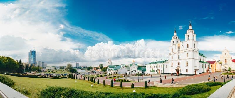 De Kathedraal van Heilige Geest in Minsk - de Belangrijkste Orthodoxe Kerk stock foto's