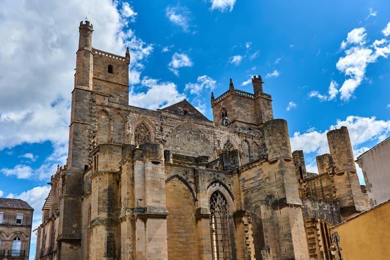 De Kathedraal van heilige-Juist en heilige-Pasteur, Narbonne frankrijk stock afbeelding