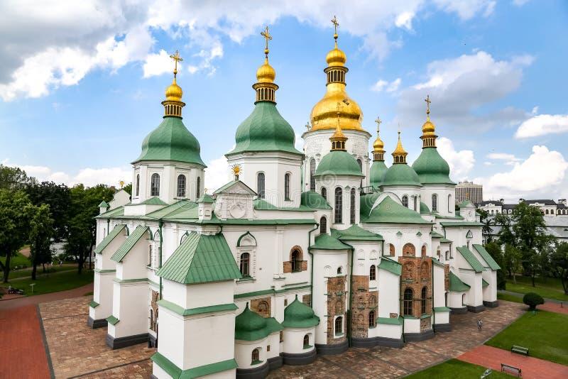 De Kathedraal van heilige Sophia in Kiev, de Oekraïne royalty-vrije stock fotografie