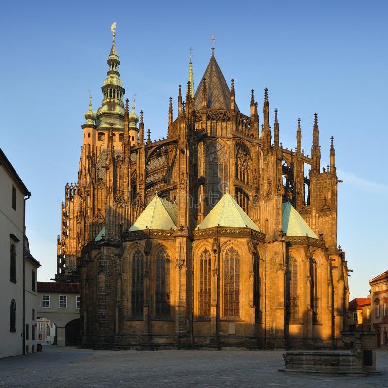 De Kathedraal van heilige Vitus stock foto's