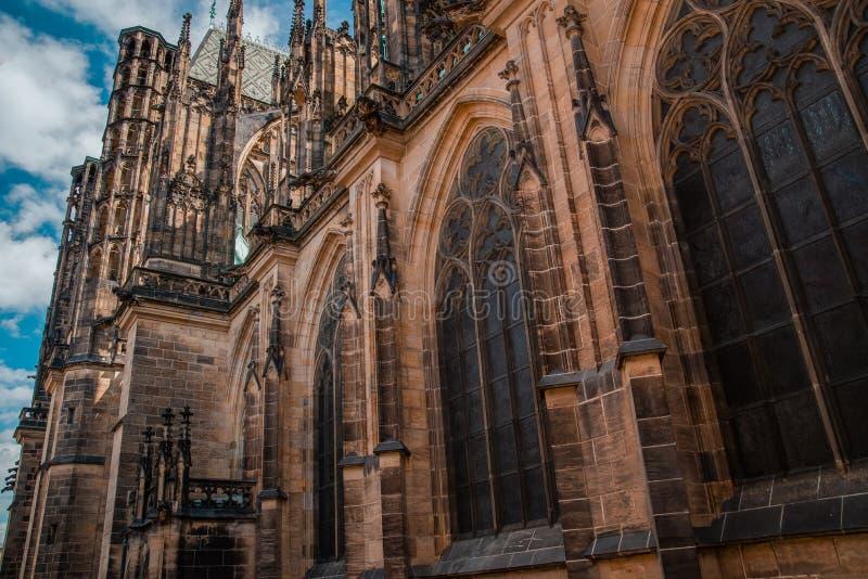 De Kathedraal van heilige Vitus in Praag royalty-vrije stock afbeeldingen