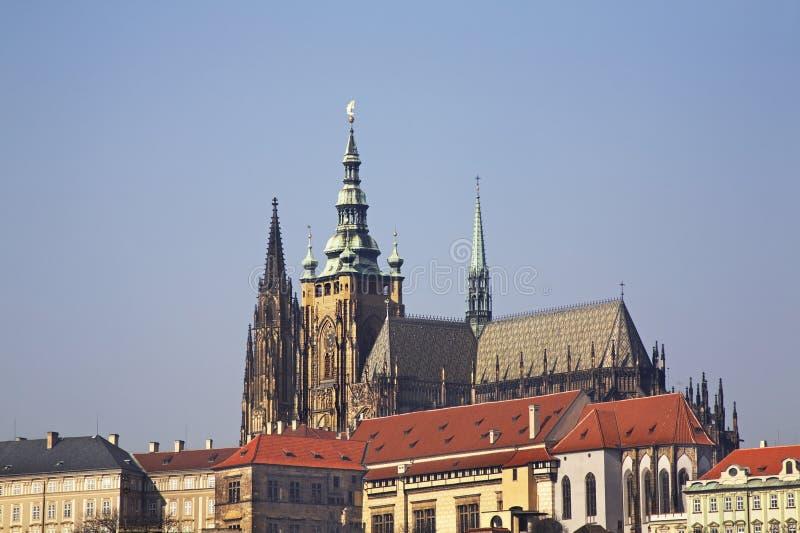 De Kathedraal van heilige Vitus in Praag Tsjechische Republiek royalty-vrije stock foto