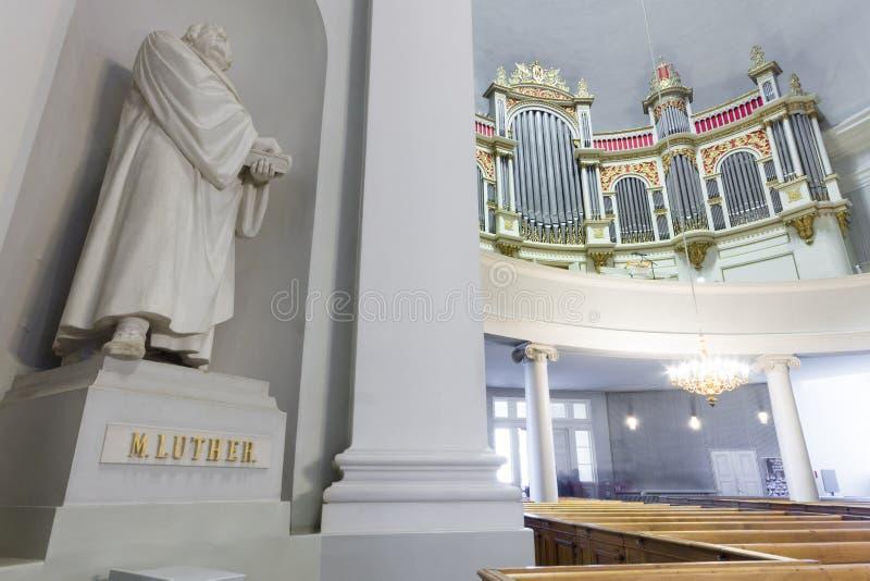 De kathedraal van Helsinki, Finland stock afbeeldingen