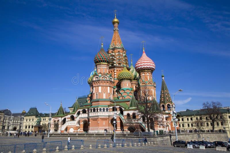 De Kathedraal van het Basilicum van heilige, Moskou, Rusland. stock afbeelding