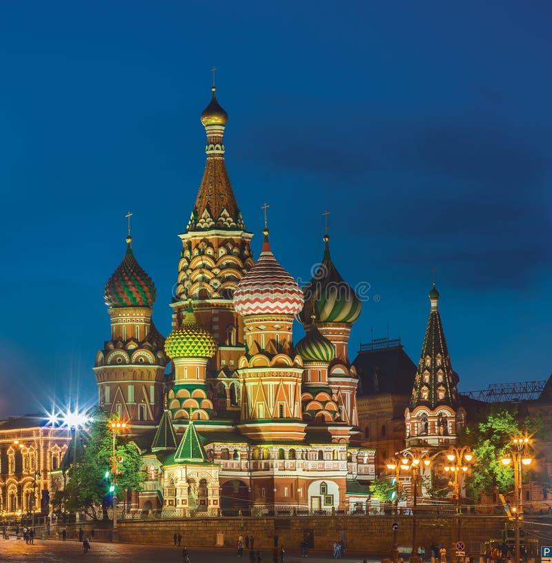 De kathedraal van het Basilicum van heilige Moskou, Rusland royalty-vrije stock foto's