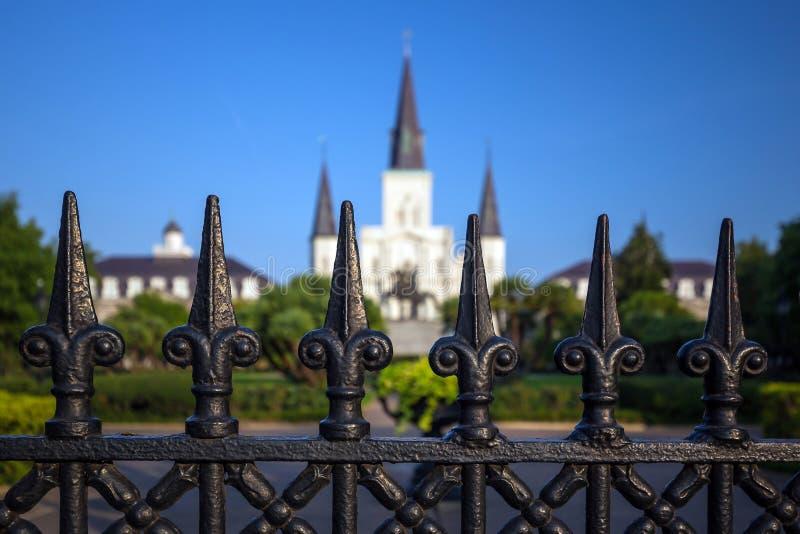 De Kathedraal van het Saint Louis in New Orleans, Louisiane stock afbeelding