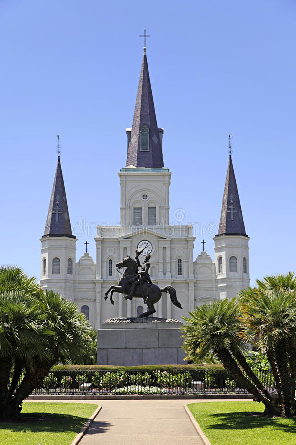 De Kathedraal van het Saint Louis in New Orleans, Louisiane. royalty-vrije stock foto's