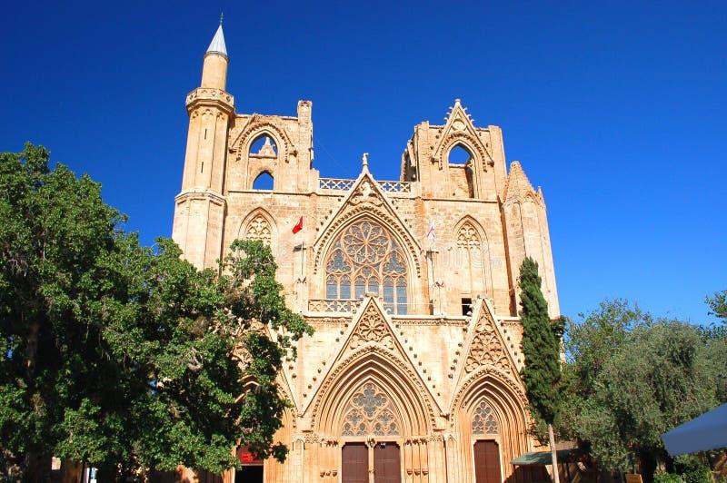 De Kathedraal van het Saint Nicolas in Famagusta, Cyprus stock foto
