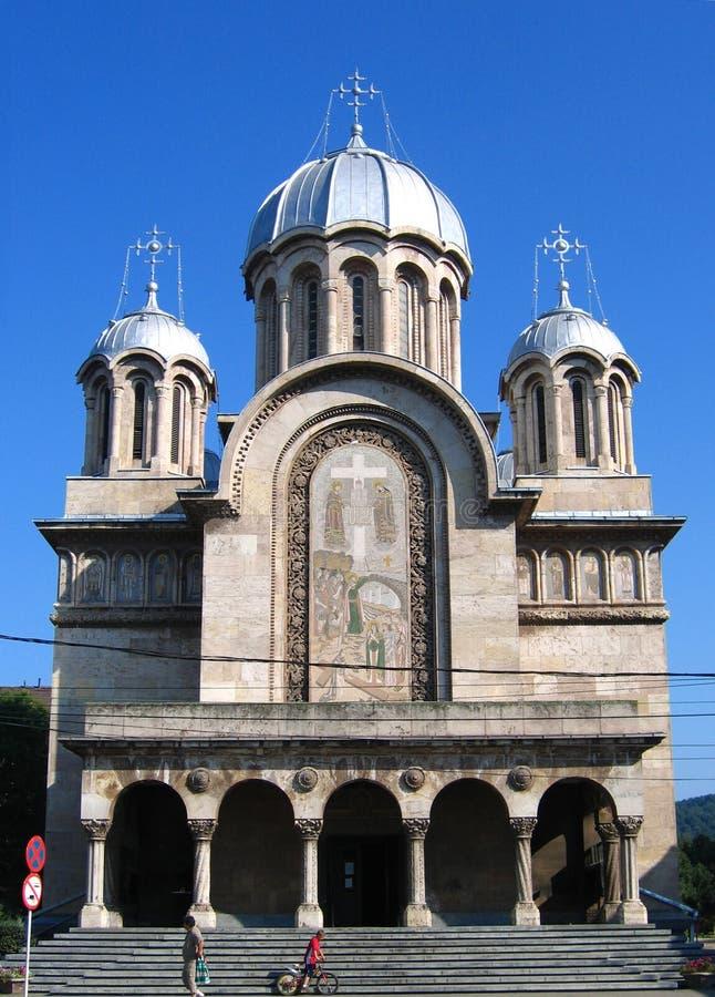 De Kathedraal van Hunedoara, Roemenië stock fotografie