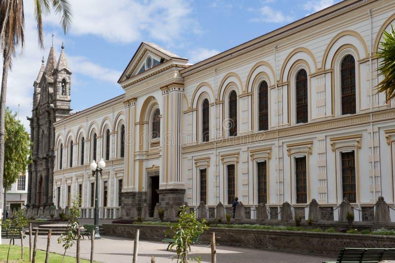 De kathedraal van Ibarra stock afbeeldingen