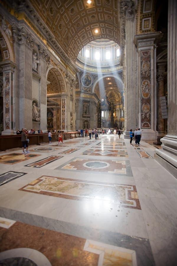 De kathedraal van Italië, Rome, st. peter?s stock afbeelding