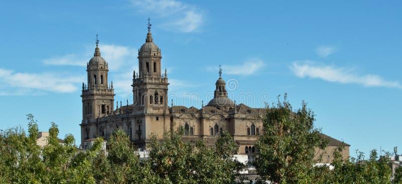 De kathedraal van Jaen stock afbeeldingen
