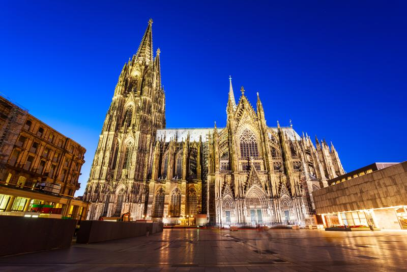 De kathedraal van Keulen in Duitsland stock foto